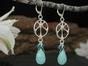 Sun Drop Earrings with Amazonite & Apatite