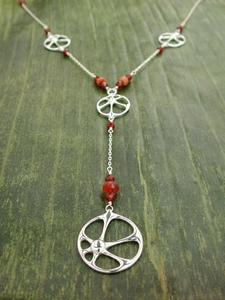 Sun Flapper Necklace with Sunstone & Carnelian