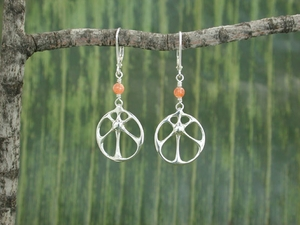 Sunrise Earrings<BR>with Sunstone