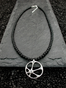 Sunrise Necklace with Black Onyx