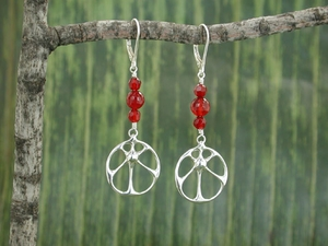 Sunshine Earrings<BR>with Carnelian
