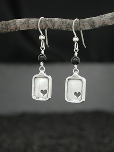 Sweet Heart Earring with Black Onyx