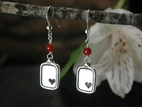 Sweet Heart Earrings with Carnelian