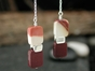 Vertebra Chiclet Drop Earrings with Mookaite
