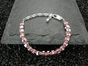 Vertebrae Bracelet with Pink Rhodonite