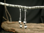Vertebrae Double Drop Earrings<BR>with Black Onyx