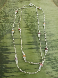 Vine Lux Necklace with Mookaite