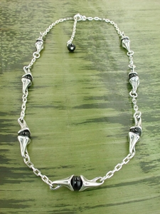 Vine Necklace with Black Onyx