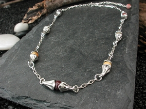 Vine Necklace with Mookaite