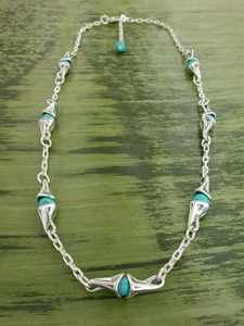Vine Necklace with Turquoise