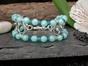 Wave Crest Bracelet with Amazonite & Apatite