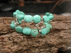 Wave Crest Bracelet with Turquoise