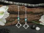 Wave Drop Earrings with Amazonite & Apatite