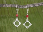 Wave Earrings<BR>with Carnelian