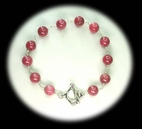 Wave Toggle Bracelet<BR>with Rhodonite