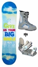 100cm or 110cm-Rocker  SLQ Smile-Blue Camber Kids Snowboard, Boots, Bindings Package or Deck, U Build It