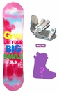 100cm  SLQ Smile-Pink Camber Kids Snowboard, Boots, Bindings Package or Deck, U Build It