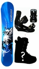 105cm  Black Dragon Moto-Cross-Blue  Kids Snowboard Package, U Build It