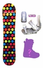 120cm  Joyride Dots Camber Kids Snowboard, Boots, Bindings Package or Deck, U Build It