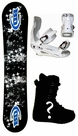130cm  Black Dragon Hard-Sound  Kids Snowboard Package, U Build It
