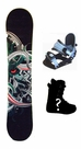 130cm  Concrete Jungle Camber Kids Snowboard, Boots, Bindings Package or Deck, U Build It