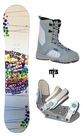130cm  SLQ Party-On-The-Snow Camber Kids Snowboard, Boots, Bindings Package or Deck, U Build It