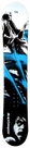 135cm  Black Dragon Reaper-Blue Camber Kids Snowboard Deck