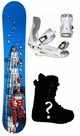137cm  World Industries Bomber  Kids Snowboard Package, U Build It