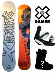138cm X-Games Chopper Snowboard + Boots + Bindings Kids Package or deck, U build it