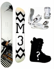 149cm  M3 Millenium Three Talon  Mens Snowboard Package, U Build It