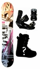 150cm  Division Team-Gray Camber Mens Snowboard, Boots, Bindings Package or Deck, U Build It