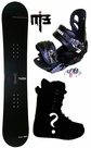 150cm  Kissmark Real-Trap  Mens Snowboard Package, U Build It