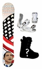 150cm  Obama Presidential Camber Mens Snowboard, Boots, Bindings Package or Deck, U Build It