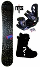 150cm  Palmer American-Black  Mens Snowboard Package, U Build It