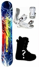 150cm  Rasta Storm  Mens Snowboard Package, U Build It
