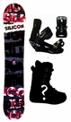 150cm  Silicon Crack-Red Camber Mens Snowboard, Boots, Bindings Package or Deck, U Build It