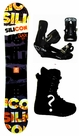 150cm  Silicon Crack-Yellow Camber Mens Snowboard, Boots, Bindings Package or Deck, U Build It