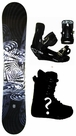 150cm  SLQ Why-Black Rocker Mens Snowboard, Boots, Bindings Package or Deck, U Build It
