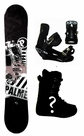 151cm  Palmer Basic-Gray Rocker Mens Snowboard, Boots, Bindings Package or Deck, U Build It