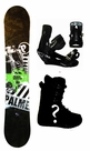 151cm  Palmer Basic-Green Camber Mens Snowboard, Boots, Bindings Package or Deck, U Build It