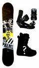 151cm  Palmer Basic-Yellow Rocker Mens Snowboard, Boots, Bindings Package or Deck, U Build It