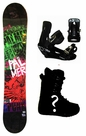 151cm  Palmer Punk-Green Rocker Mens Snowboard, Boots, Bindings Package or Deck, U Build It