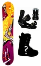154cm  Black Fire Scoop-Orange Camber Mens Snowboard, Boots, Bindings Package or Deck, U Build It
