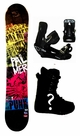154cm  Palmer Punk-Yellow Rocker Mens Snowboard, Boots, Bindings Package or Deck, U Build It