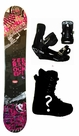 154cm  Palmer Zebra-Red Rocker Mens Snowboard, Boots, Bindings Package or Deck, U Build It