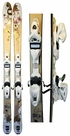 154cm Rossignol S-74W Used Skis with Rossignol TPi12 Bindings Package