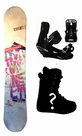 154cm  TwoBOne Keep-Away-White Camber Mens Snowboard, Boots, Bindings Package or Deck, U Build It