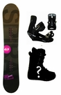 154cm  TwoBOne Spiral-Black W-Camber Mens Snowboard, Boots, Bindings Package or Deck, U Build It