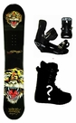 155cm  Ed Hardy 50Pc-Tiger Camber Mens Snowboard, Boots, Bindings Package or Deck, U Build It