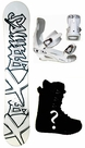 155cm  X-Games Tagger  Mens Snowboard Package, U Build It
